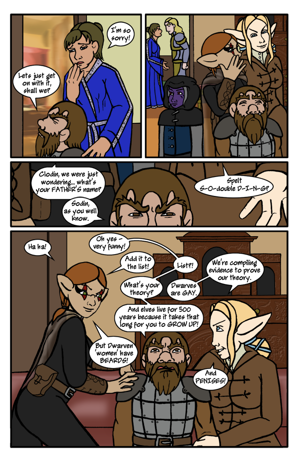 Pg 51: Elven Theory on Dwarves