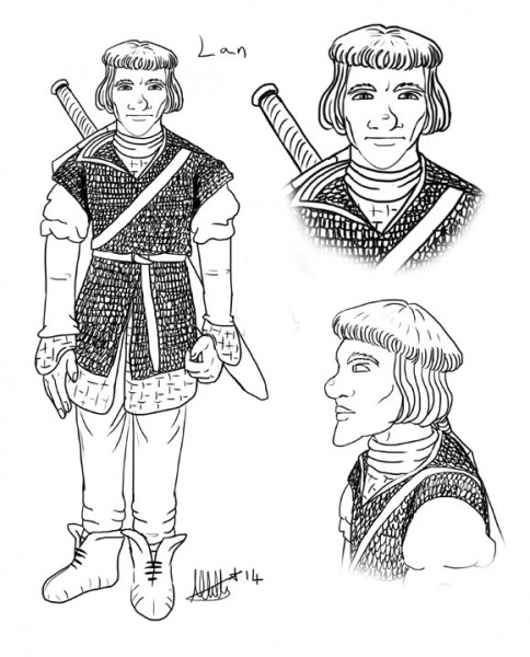Lan - D&D Human Fighter