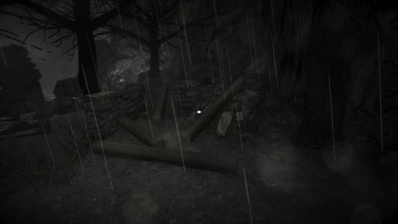 I even got trapped in the scenery, Don't walk up the log! It's a trap!