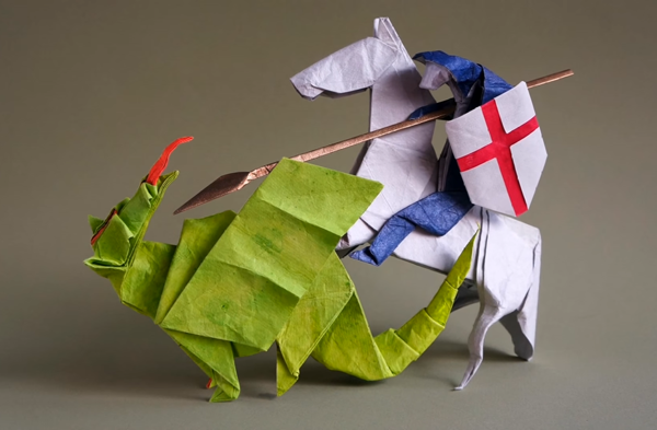 St. George and the origami Dragon