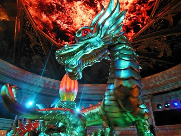 animatronic dragon of fortune